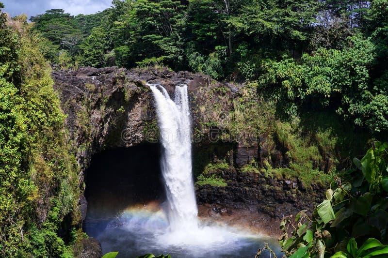 RegnbågeFallsRainbow Falls arkivfoton