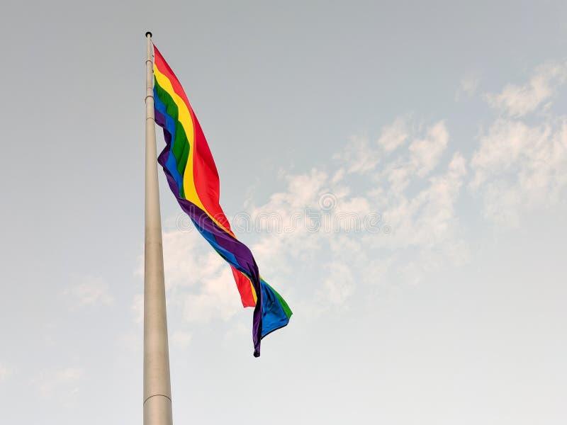 Regnbågeflagga, Castro District, San Francisco, Kalifornien royaltyfri foto