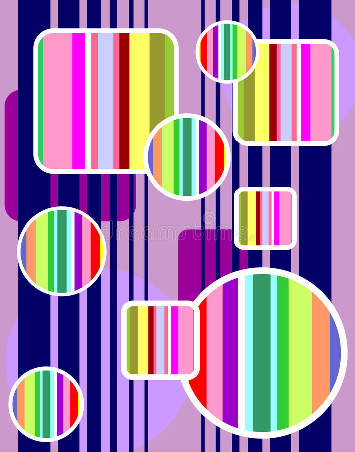 regnbågeformer vektor illustrationer