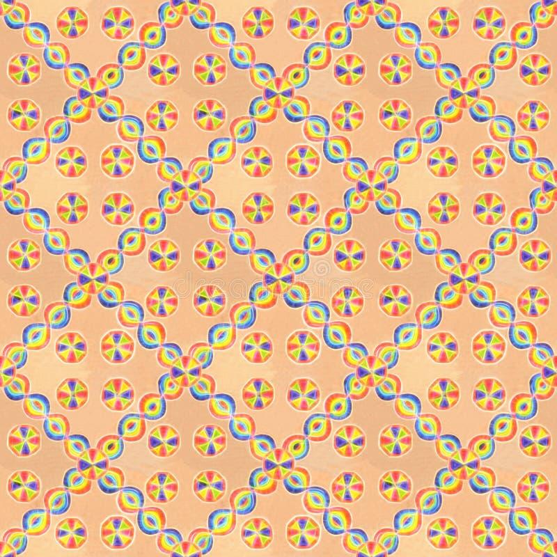 Regnbågegodis på en försiktig orange bakgrund stock illustrationer