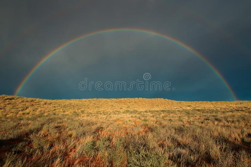Regnbågelandskap - Kalahari öken fotografering för bildbyråer