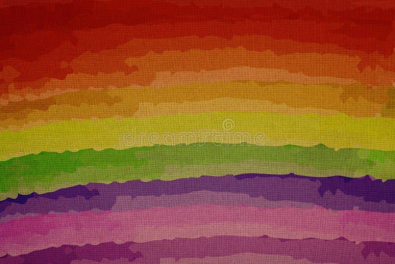 Regnbågen färgar på kanfas, detaljhandel på en förstoring royaltyfria foton