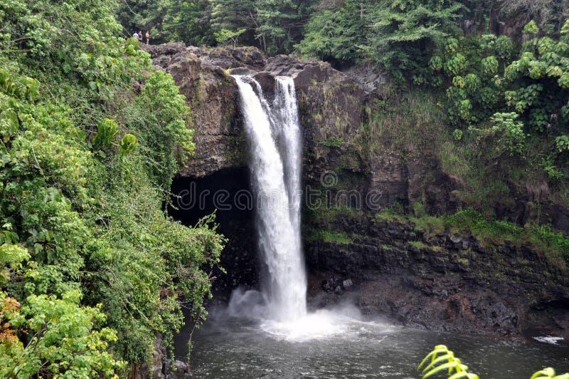 Regnbågen Faller (den Stora ön, Hawaii) Royaltyfria Foton