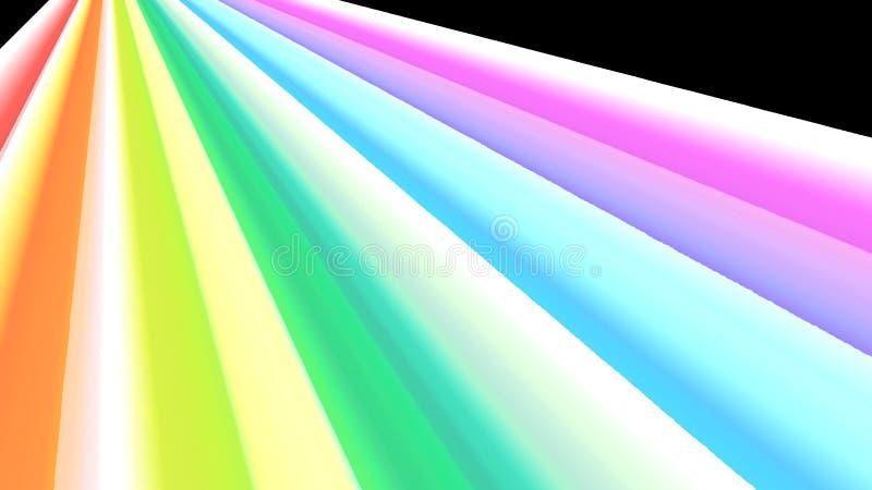 Regnbågeperspektiv med djup och viktig royaltyfri illustrationer