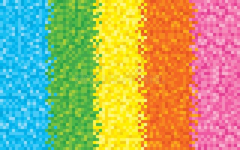 RegnbågePIXELbakgrund vektor illustrationer