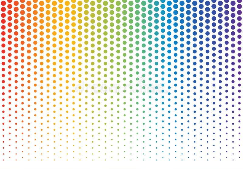 Regnbågeprickbakgrund stock illustrationer