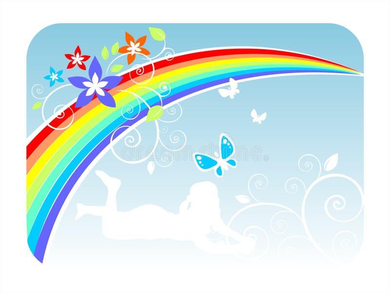 regnbågesommar vektor illustrationer