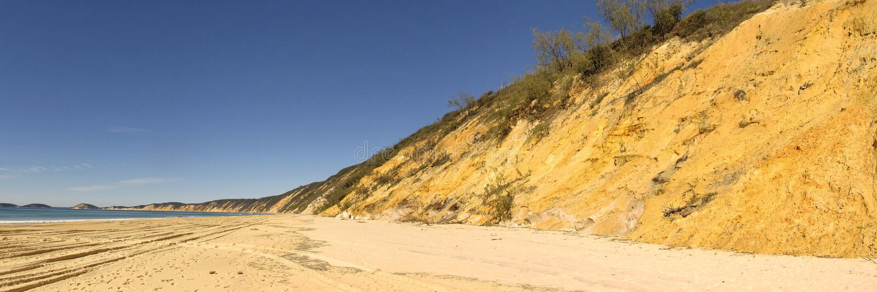 Regnbågestrand, Queensland, Australien arkivbilder