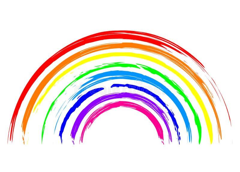 Regnbågesymbol stock illustrationer