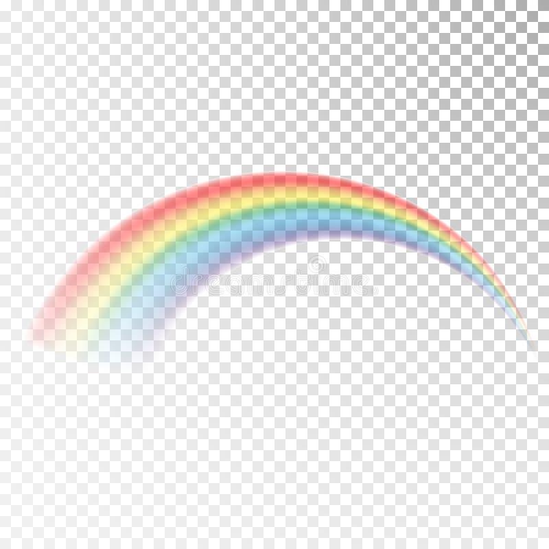 Regnbågesymbol Färgrikt ljus och ljus designbeståndsdel för dekorativt Abstrakt regnbågebild Vektorillustration som isoleras på t royaltyfri illustrationer