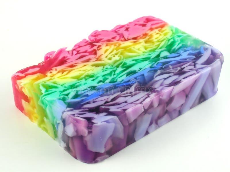 Download Regnbågetvål arkivfoto. Bild av chunks, kulört, violett - 240282