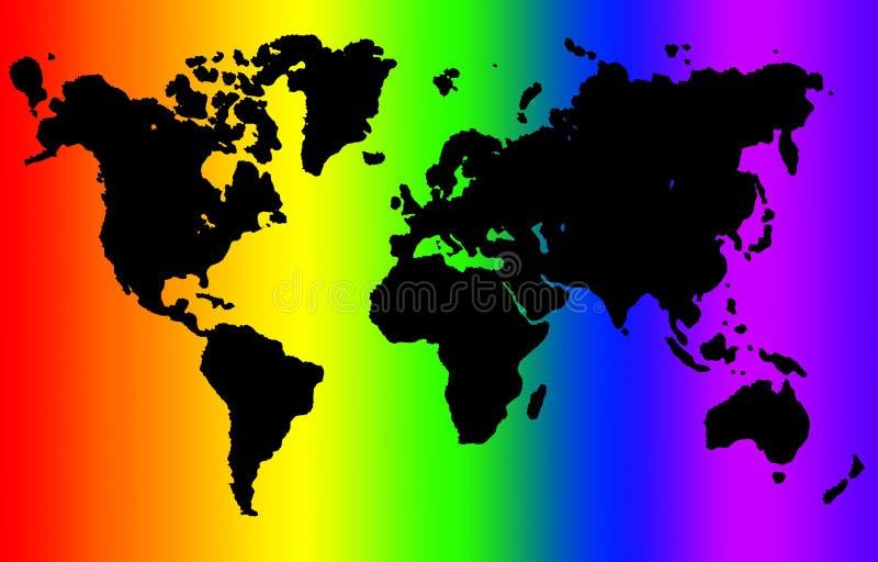 regnbågevärld vektor illustrationer