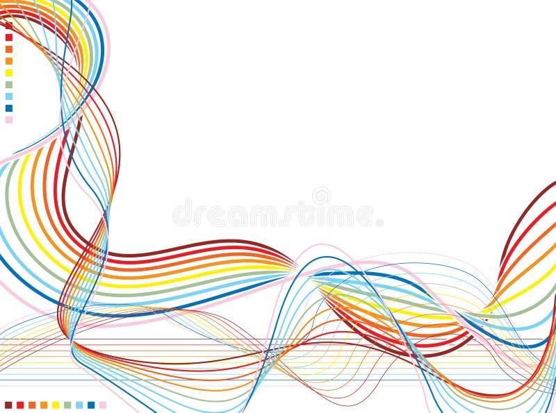 regnbågewarp stock illustrationer