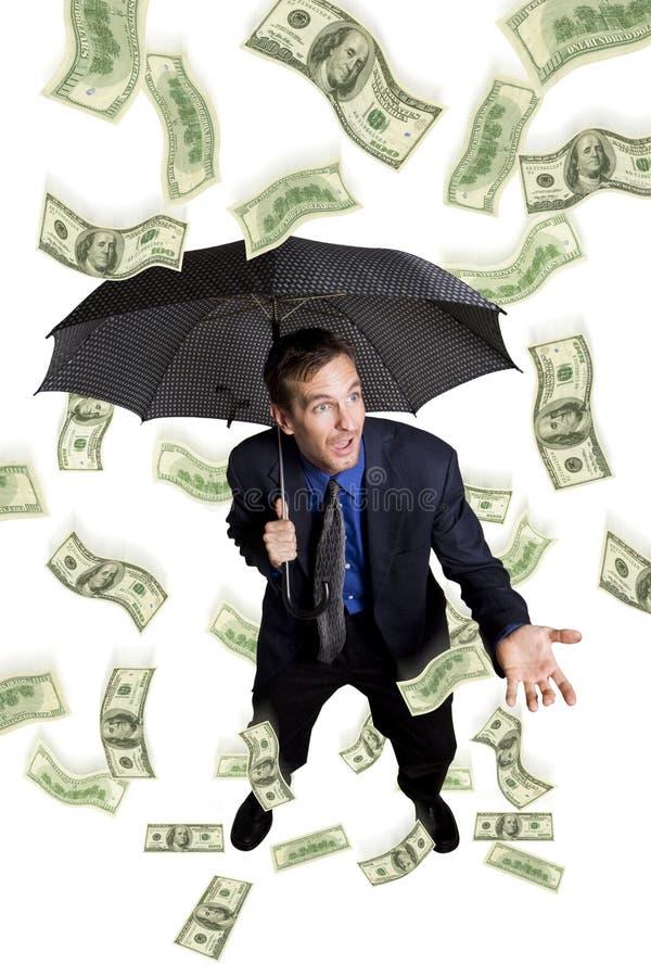 Regnen des Geldes stockfotografie