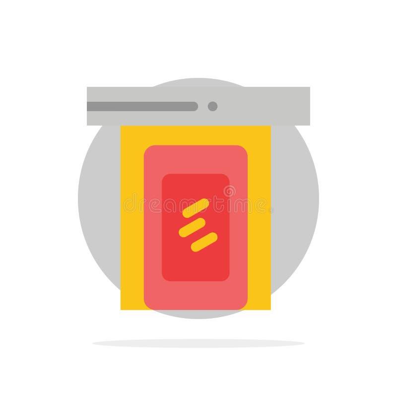 Regnerisch, Wolke, Tür, flache Ikone Farbe des abstrakten Kreis-Haupthintergrundes lizenzfreie abbildung