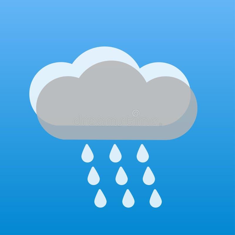 regnerische Wolken des Wetters zwei grau und weiß lizenzfreie abbildung