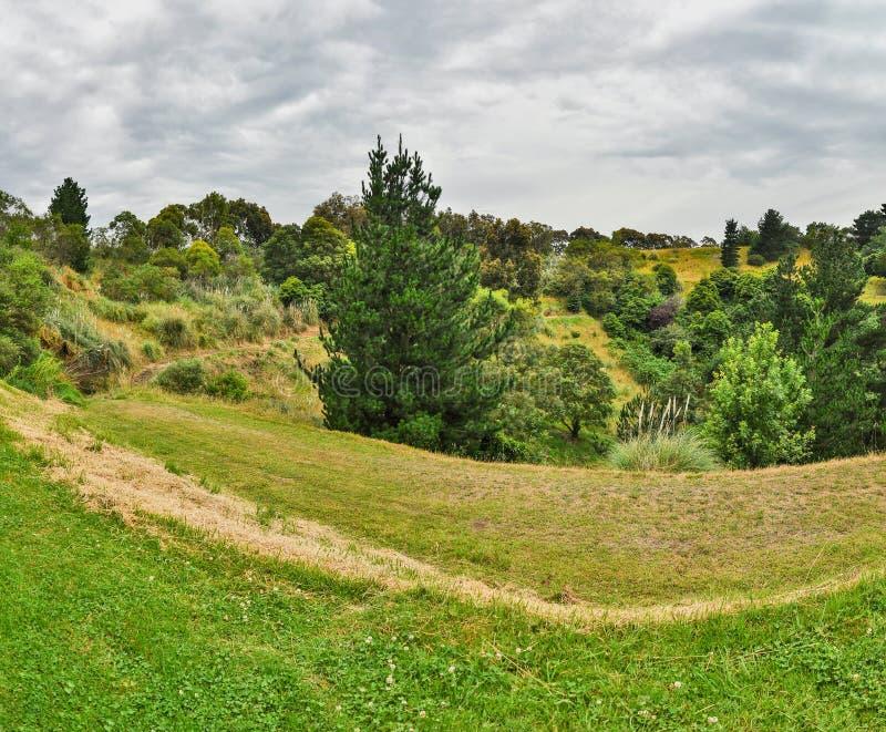 Regnerischer Tag im Park Wilson australien lizenzfreies stockbild