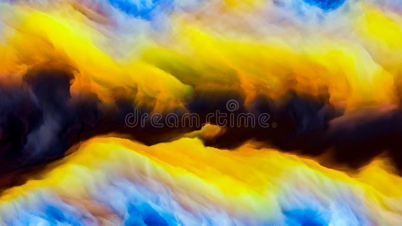Regni di Cloudscape illustrazione vettoriale