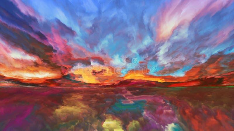 Regni di paesaggio astratto fotografia stock libera da diritti