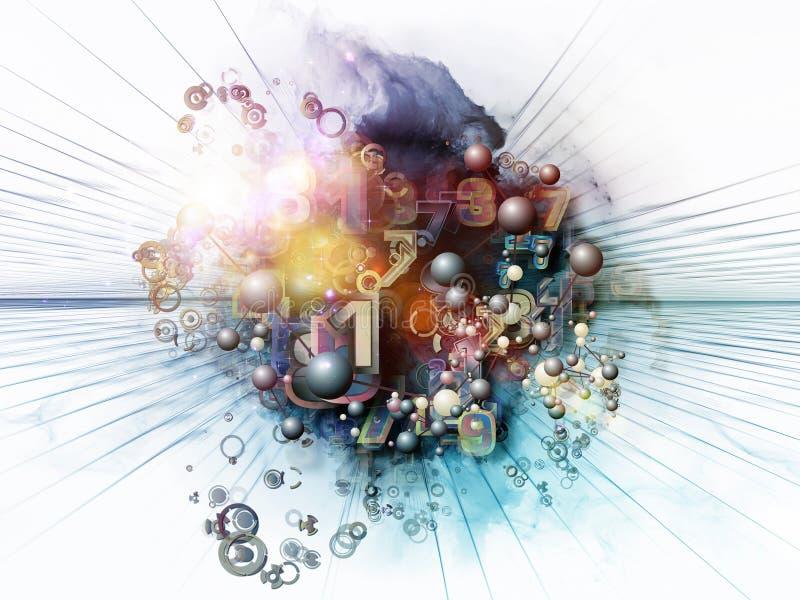 Regni di tecnologia di Digitahi illustrazione di stock