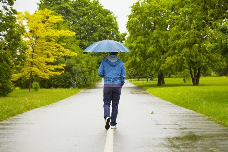 Regnig dag royaltyfria bilder