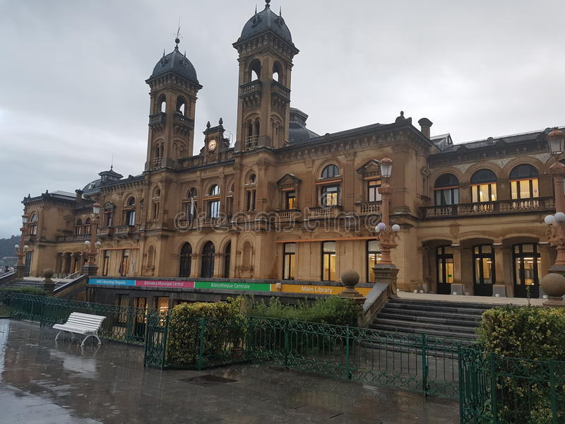 Regnig dag i San Sebastian royaltyfri bild