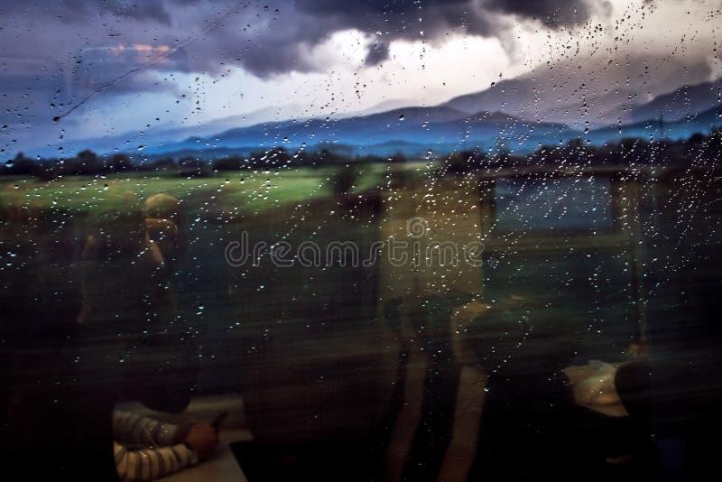 Regnig dag i trasylvania royaltyfri fotografi