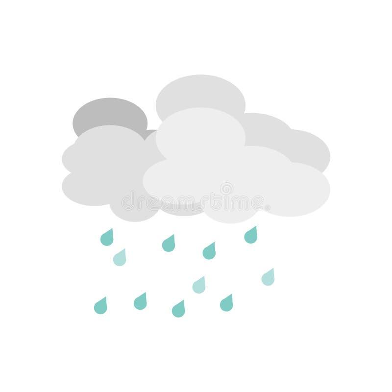 Regnig symbolsvektor som isoleras på vit bakgrund, regnigt tecken, vädersymboler royaltyfri illustrationer
