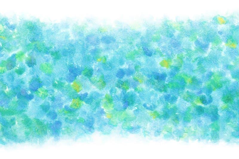 Regnigt bl?tt abstrakt begrepp f?r pastellf?rgad f?rg eller vattenf?rgm?larf?rgbakgrund royaltyfri illustrationer