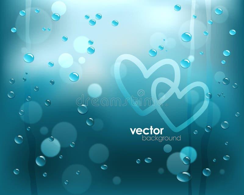 regnigt fönster vektor illustrationer