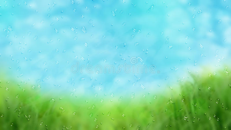 Regnigt fönster royaltyfri illustrationer
