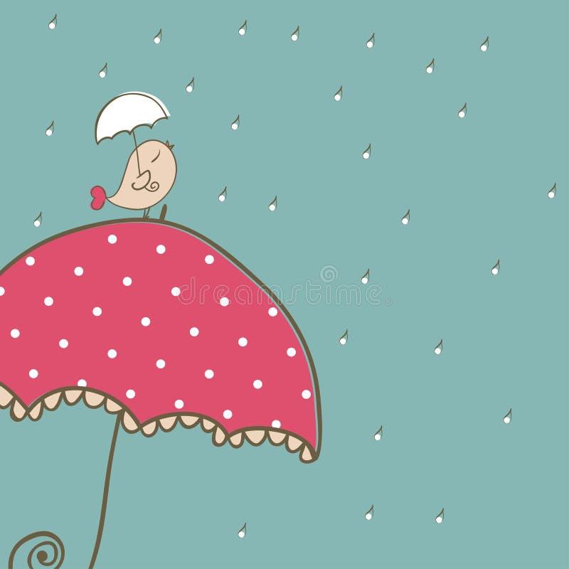 Regnigt kort vektor illustrationer