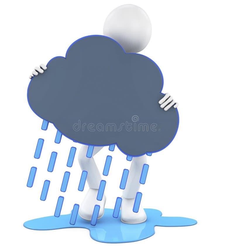 Regnigt moln royaltyfri illustrationer