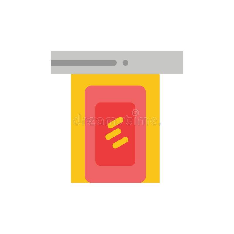 Regnigt moln, dörr, hem- plan färgsymbol Mall för vektorsymbolsbaner vektor illustrationer