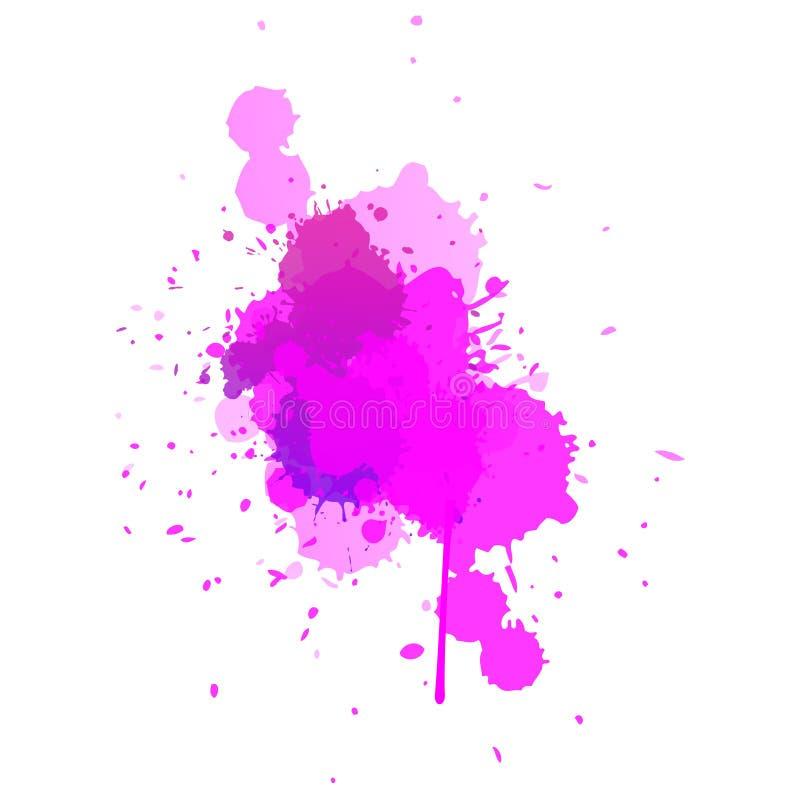 Regnigt moln för rosa vattenfärg royaltyfri illustrationer