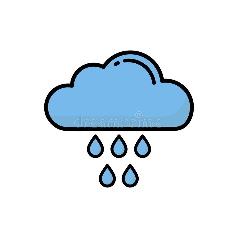 Regnigt moln för tecknad film royaltyfri illustrationer