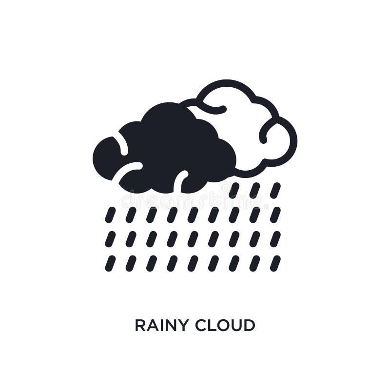 regnigt moln isolerad symbol enkel beståndsdelillustration från nautiska begreppssymboler för logotecken för regnigt moln rediger royaltyfri illustrationer