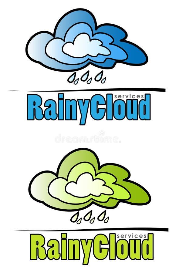 Regnigt molntecken stock illustrationer