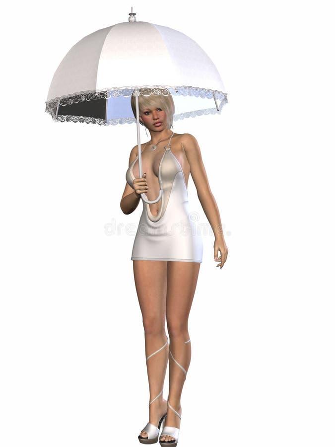 regnigt paraply för skönhetdag vektor illustrationer