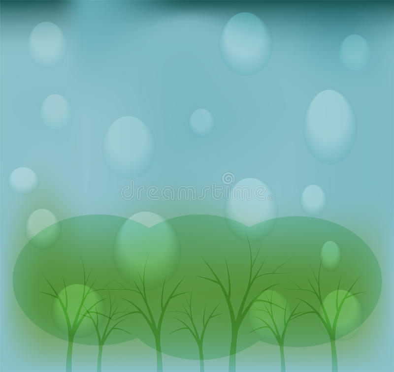 regnigt väder vektor illustrationer
