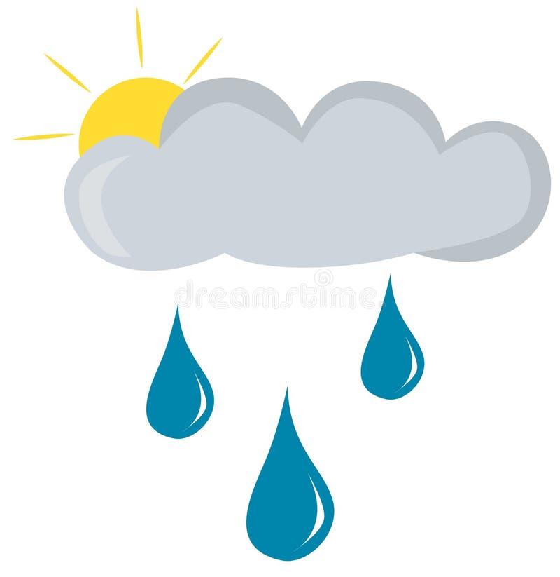 Regnigt väder stock illustrationer