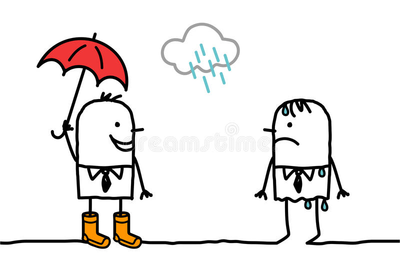 regnigt väder för tillbehör stock illustrationer