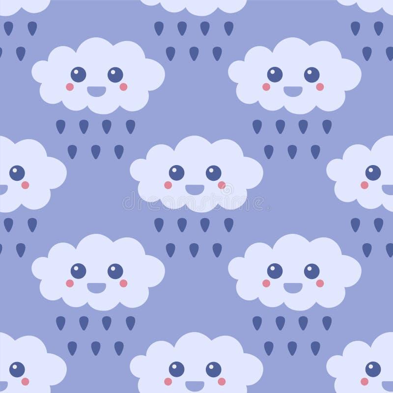 regnigt väder också vektor för coreldrawillustration stock illustrationer