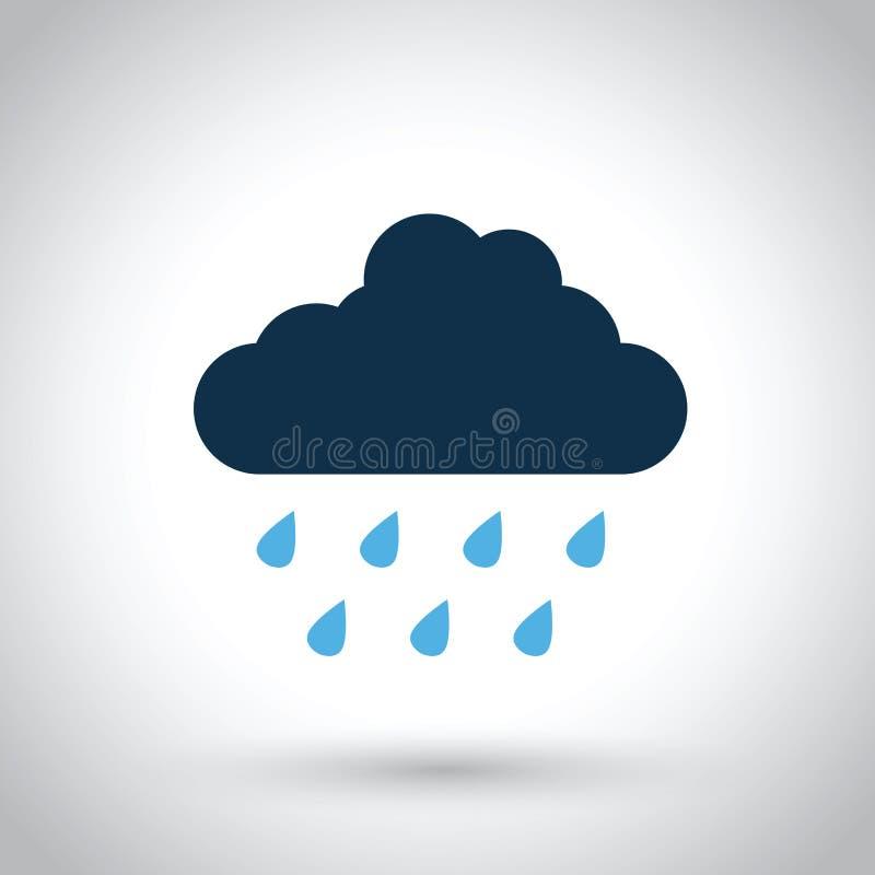 Regnmoln vektor illustrationer