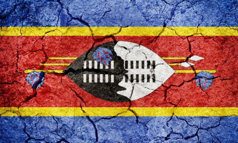 Regno della bandiera dello Swaziland o di Eswatini fotografia stock libera da diritti