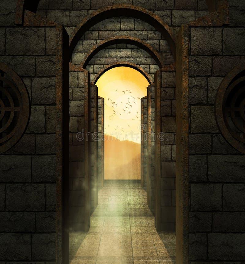 Regno nel cielo royalty illustrazione gratis