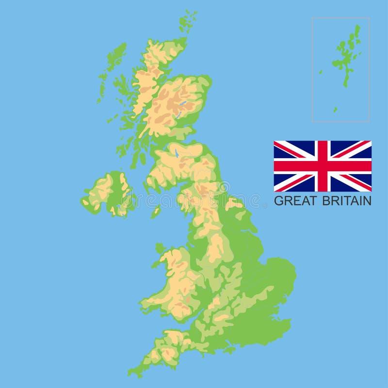 Cartina Geografica Fisica Della Gran Bretagna.Regno Unito Mappa Fisica Dettagliata Della Gran Bretagna Colorata In Base All Elevazione Con Fiumi Laghi Montagne Illustrazione Vettoriale Illustrazione Di Naturalizzato Modificabile 161301249