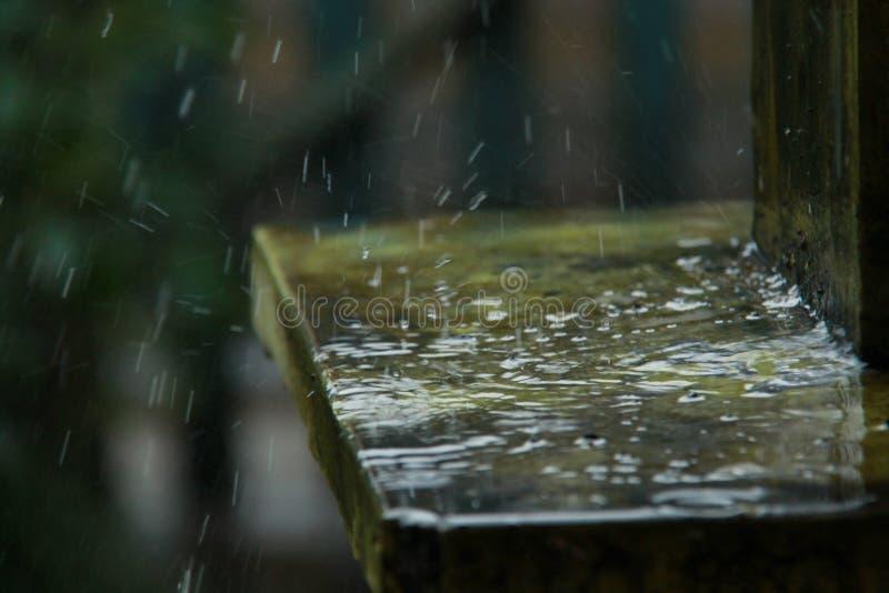 Regnvatten pölar, som uppstår i den regniga säsongen, version 5 royaltyfri foto
