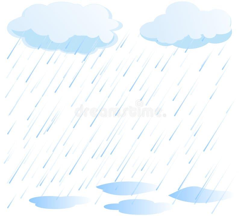 Regnvektor royaltyfri illustrationer