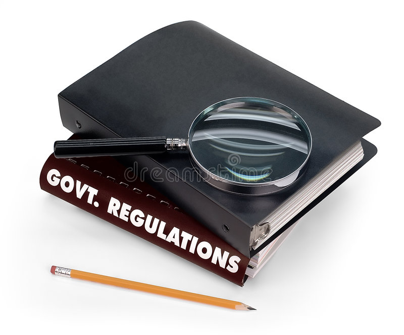 Regolamentazioni del governo fotografia stock libera da diritti
